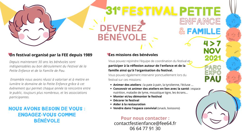 Devenez bénévole au Festival de la Petite Enfance