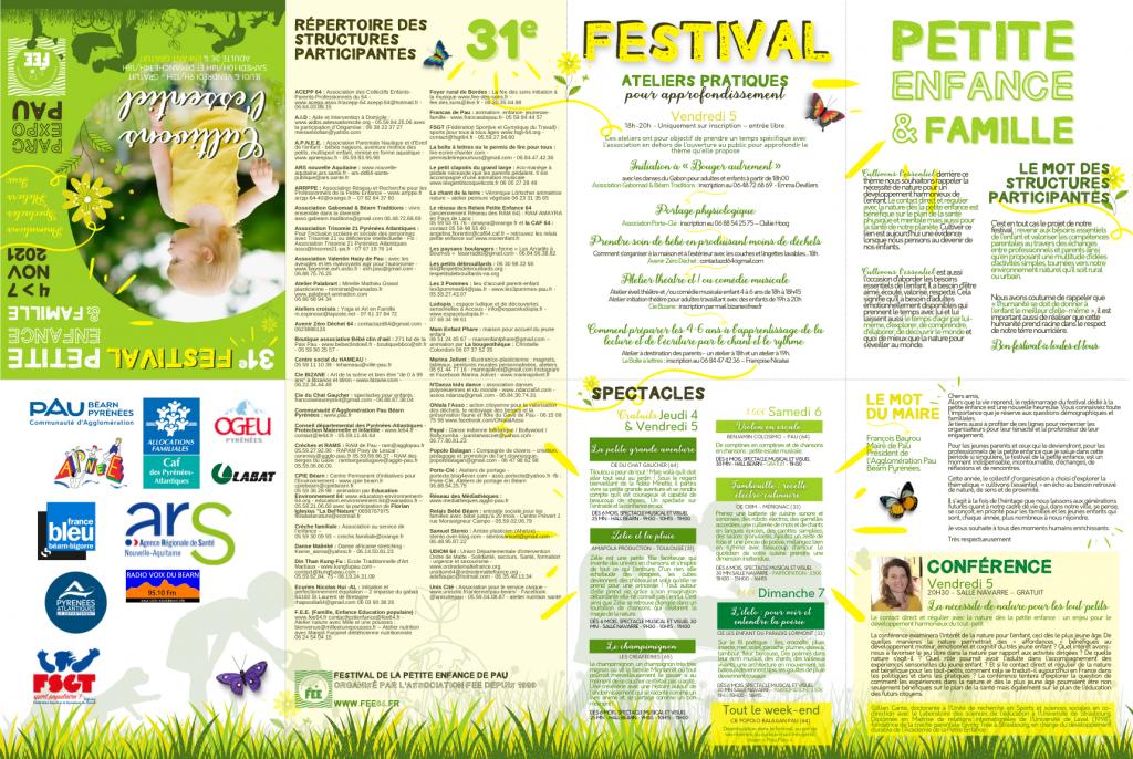Programme du 31e Festival